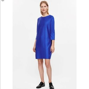 Cos Oversized blue dress 3/4th Sleeve Sz L